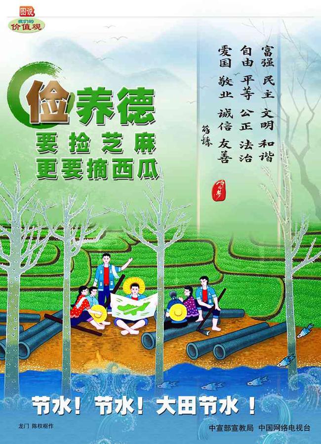 校园文明宣传画手绘